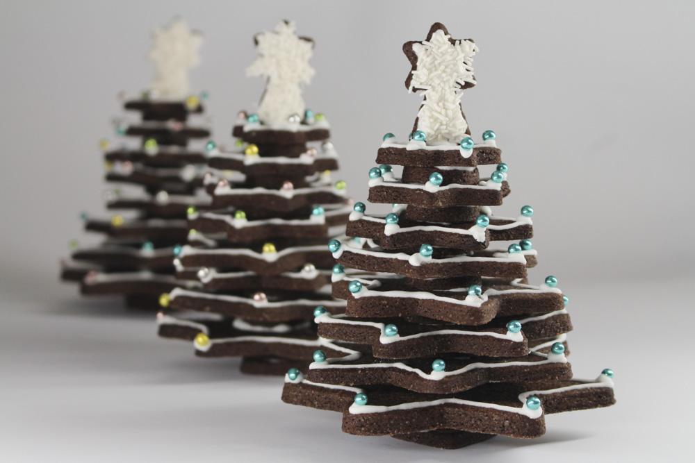Albero Di Natale Con Biscotti.Albero Di Frolla Madalina Pometescu Dolci E Ricette