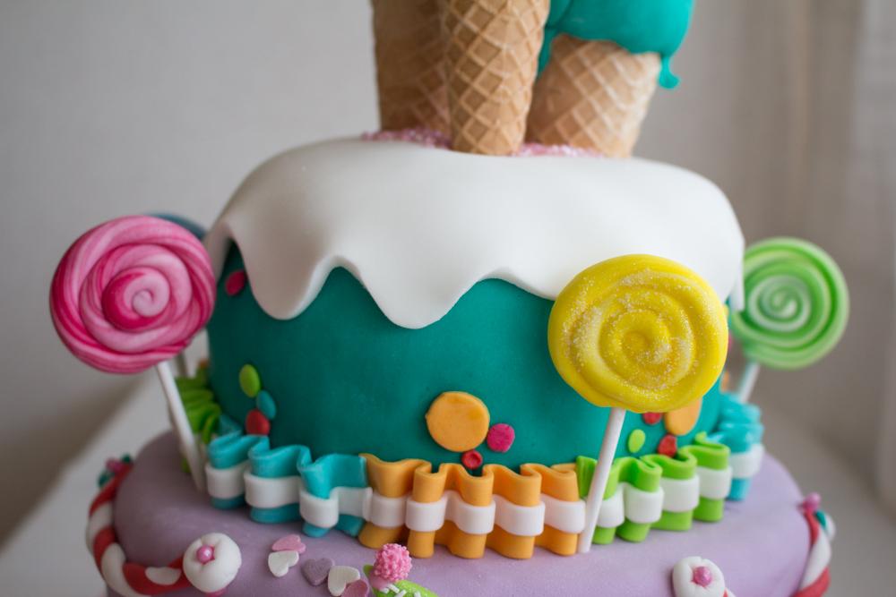 Favoloso Pasta di zucchero coni gelato e lecca lecca - Madalina DX81