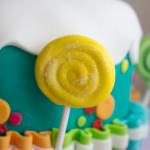 Pasta di zucchero torta per bambine