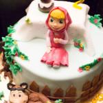 Torta Masha e Orso - Compleanno - Madalina Pometescu ricette dolci e salate-2