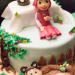 Torta Masha e Orso - Compleanno - Madalina Pometescu ricette dolci e salate-4