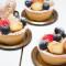 Crostatina con mele e crema frangipane