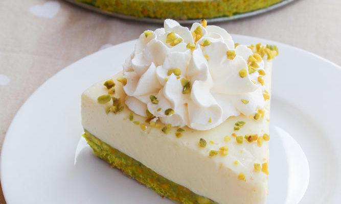 Cheesecake pistacchio e yogurt