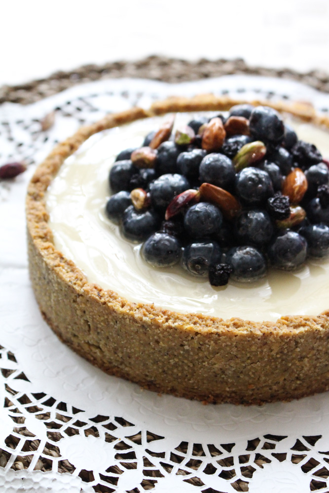 Crostata vegana mirtilli e yogurt