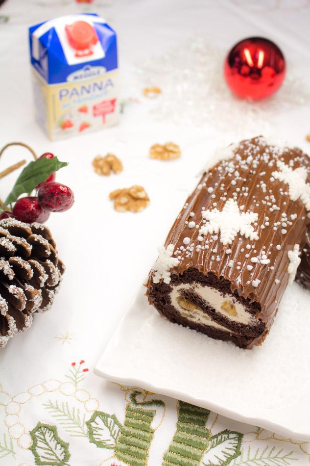 Tronchetto di Natale (ricetta senza glutine e senza lattosio)
